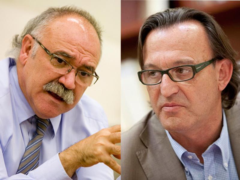 Josep-Lluís Carod-Rovira i Josep Maria Vila d'Abadal