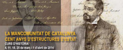 """Curs d'història: """"La Mancomunitat de Catalunya, cent anys d'estructures d'Estat"""""""