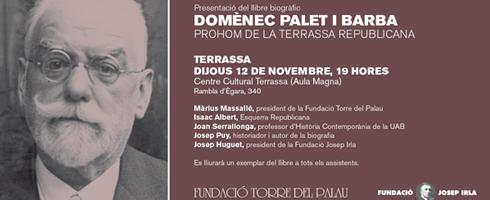 """Presentació del llibre """"Domènec Palet i Barba"""""""
